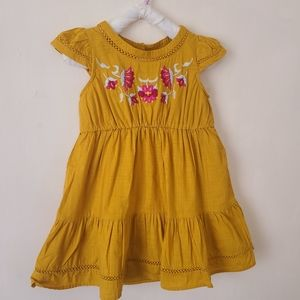 NWOT Genuine kids by OshKosh embroidered golddress